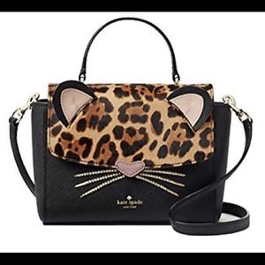💯✅ Authentic Kate Spade Novelty Bag Leopard Terri
